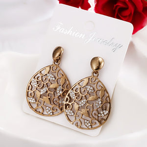 Antique Ethnic Geometric Water droplets Earrings