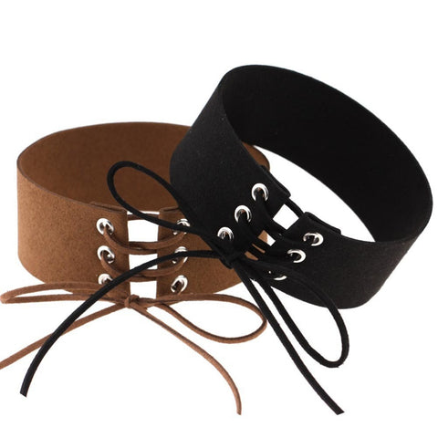 Lace up Gothic Choker