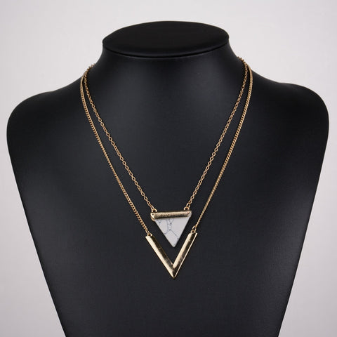 Work appropriate fashionista marble neckpiece