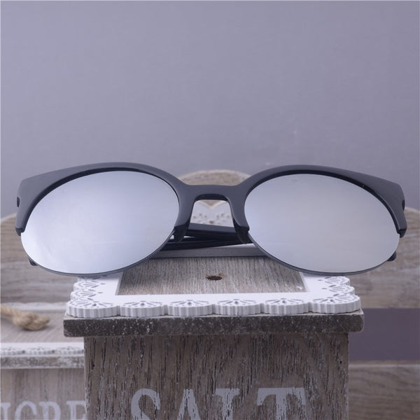 Super Round Cat Eye Circle Glasses