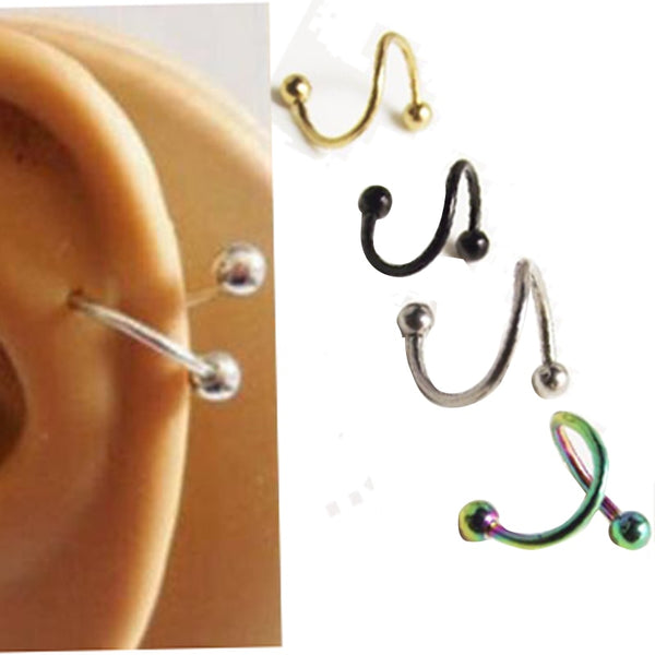 2pcs/set surgical Spiral Twister Helix Ear Piercing
