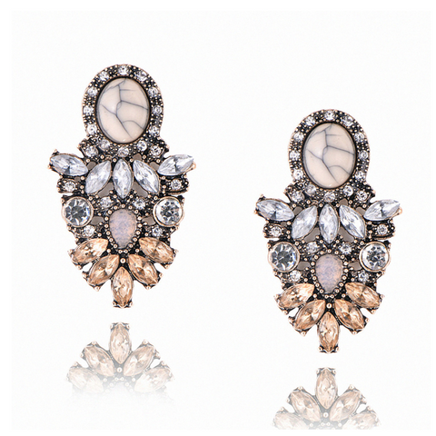 Big Crystal Statement Party Hanging Earrings