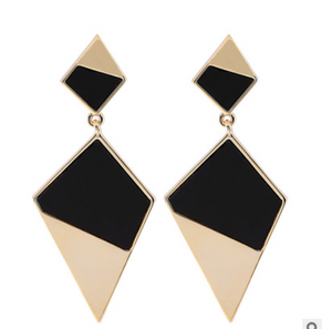 Geometric colour-block Earrings