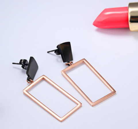 Simple Formal Geometric Earrings