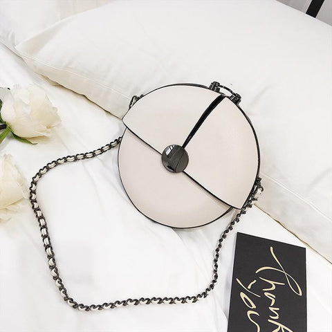 Elegant Round Chain Diagonal Shoulder Bag