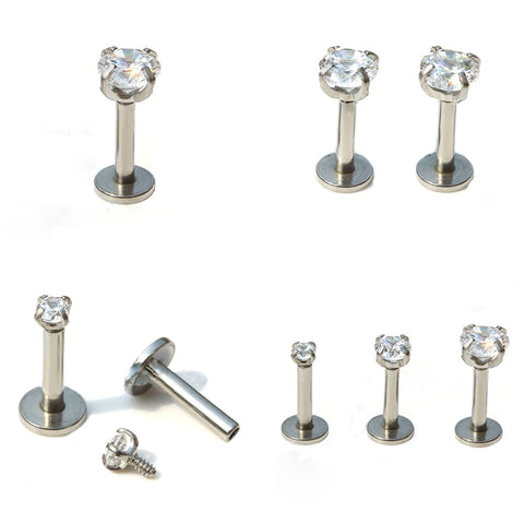 1 Pc Silver Labret Body Piercing