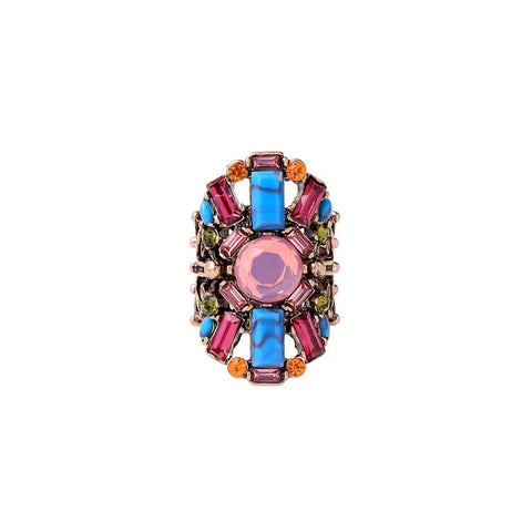 Big multicolour Royal statement ring