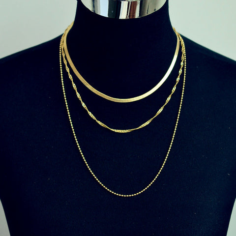 rendy jewelry copper choker multi layer necklace