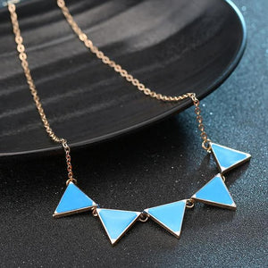 Luxury Short Triangle Punk Collar Sweater Necklaces