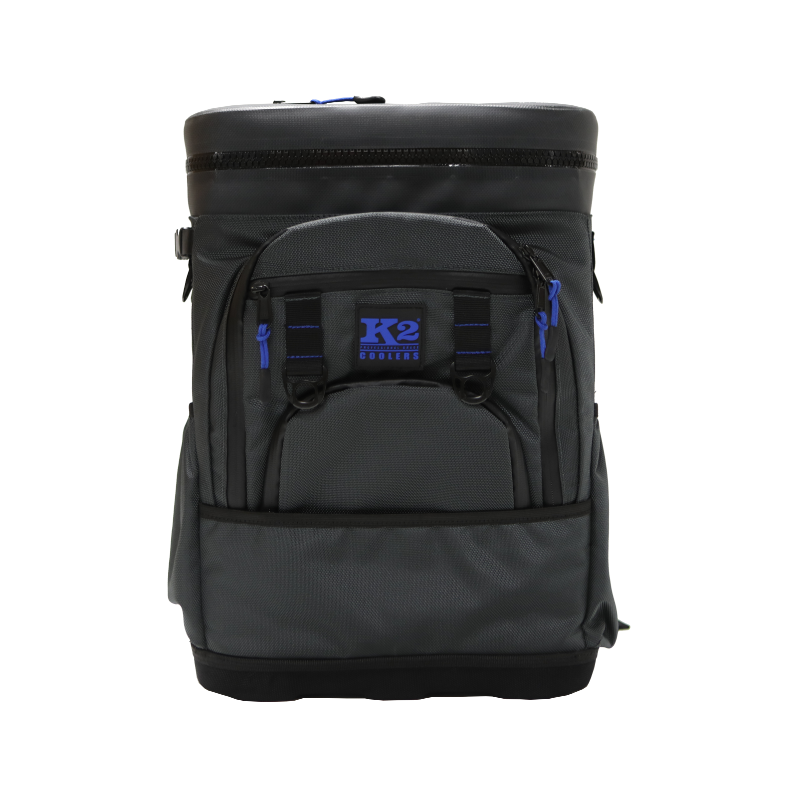 K2 Coolers Backpack Cooler Dark Grey Front View | North Star Fox
