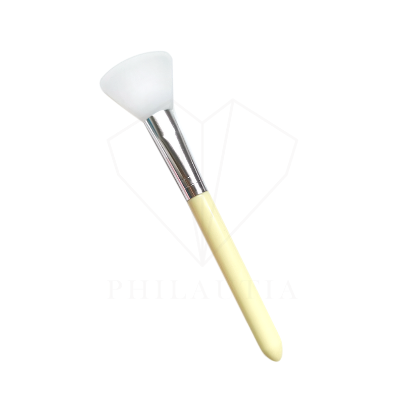 Fan Silicone Face Mask Brush (Yellow)