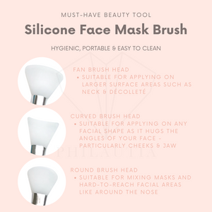 Curved Silicone Face Mask Brush (Pink)