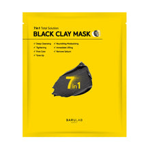 Load image into Gallery viewer, 7 in 1 Total Solution Black Clay Mask