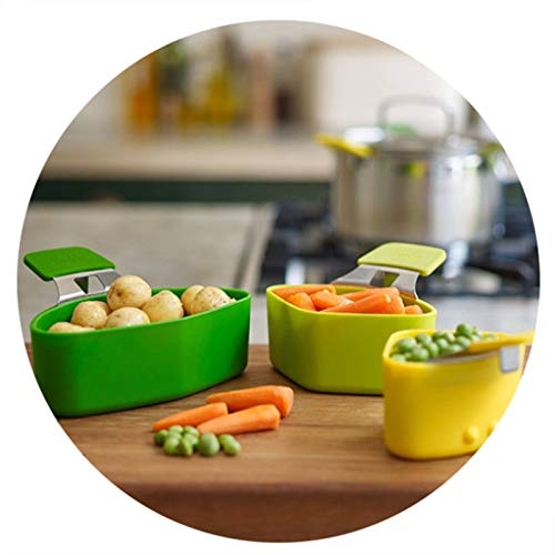 vitihipsy 3 Pcs/Set Steamer Basket Silicone Steam Cooker Basket for Cooking Vegetable Kitchen Accessories