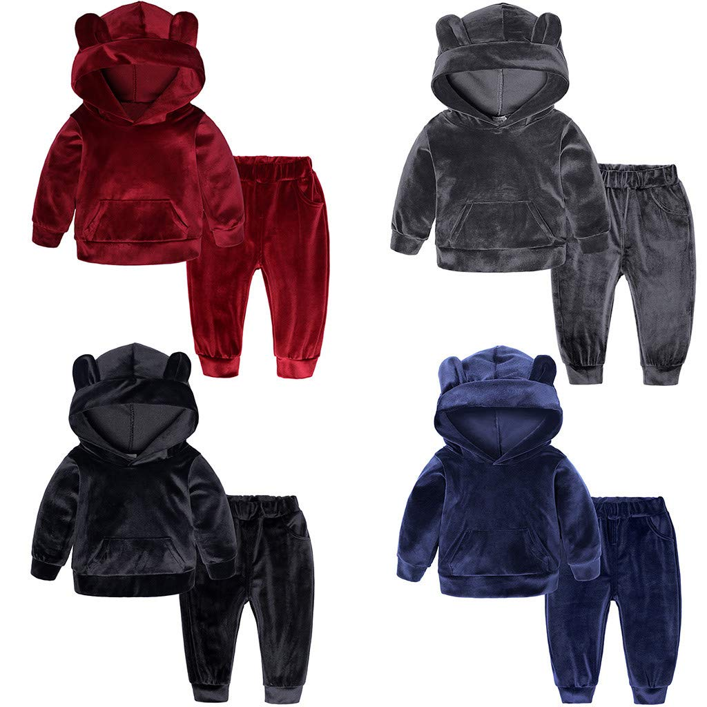 Toddler Kids Tracksuit Jogging Top and Bottom Set