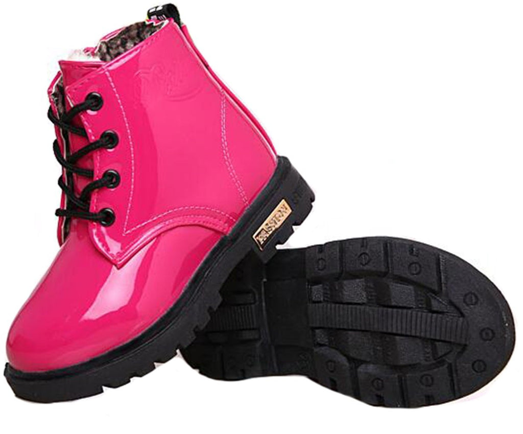 Waterproof Lace-Up Kids Short Ankle Boots