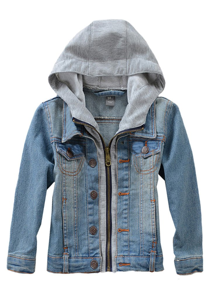 Boys' Hooded Denim Jacket