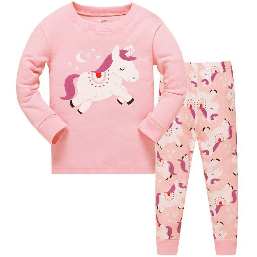 Kids Cute Long Sleeve Christmas Pyjamas Unicorn Set