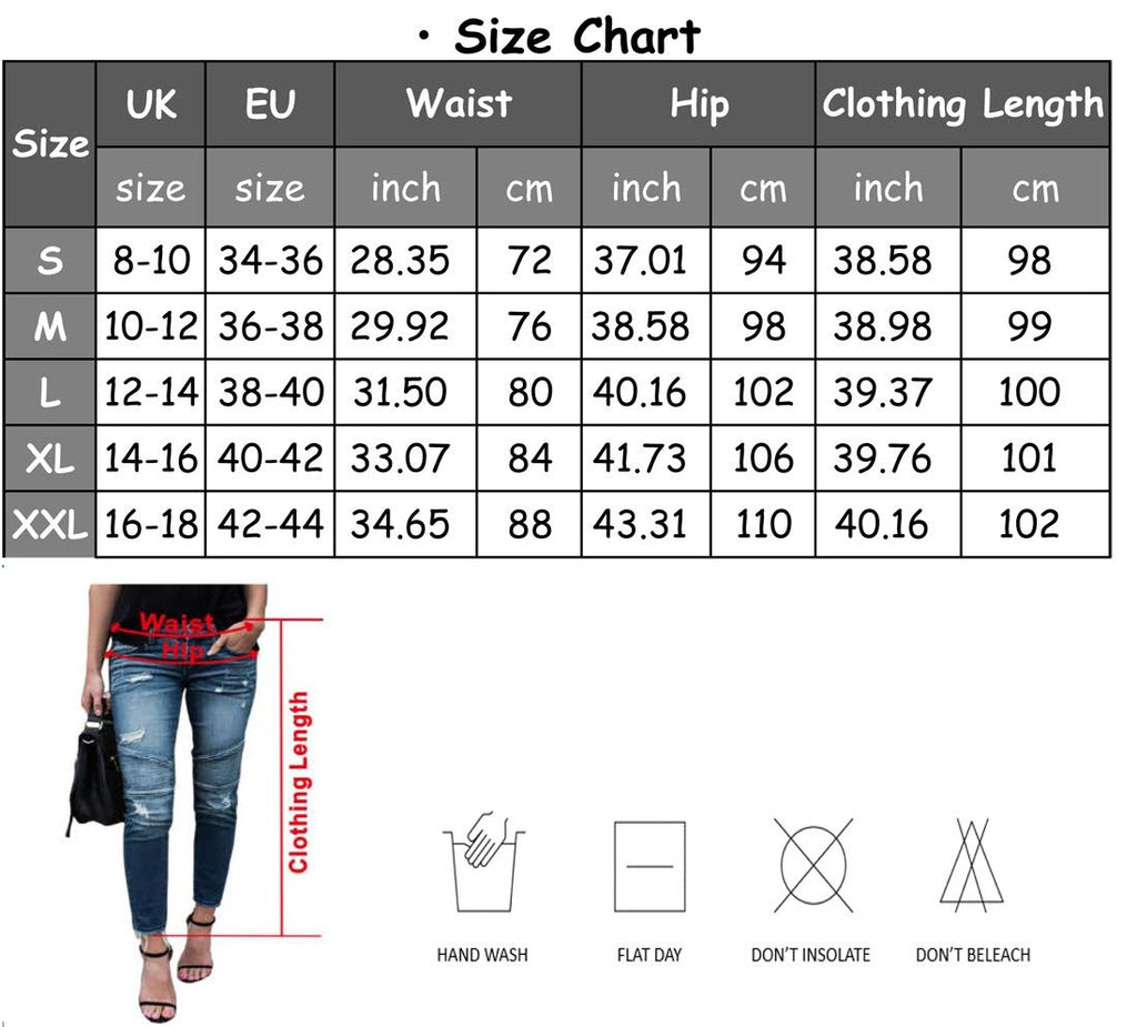 Women's Slim Fit Skinny Denim Ripped Jeans