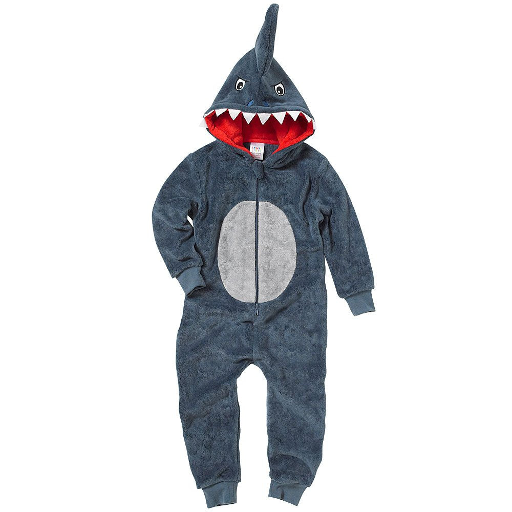 Kids Shark Matching Family Fleece Jumpsuit Playsuit