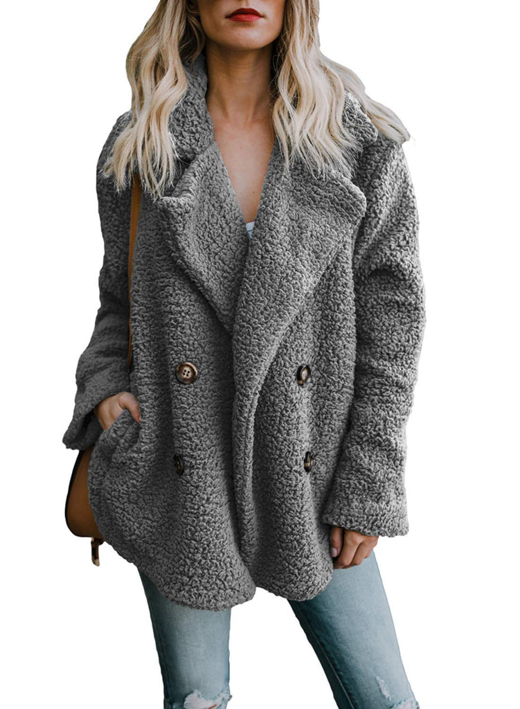 Womens Winter Fuzzy Teddy Bear Coat
