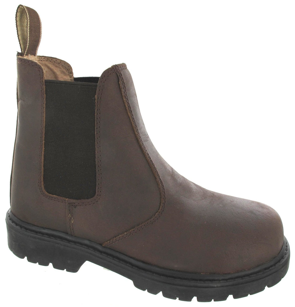 Kids Pull On Leather Chelsea Ankle Boots