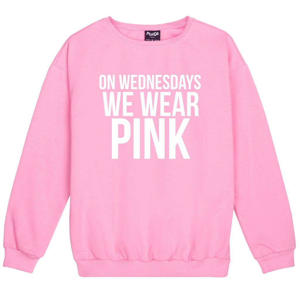 On Wednesdays Wear Pink Sweatshirt Jumper