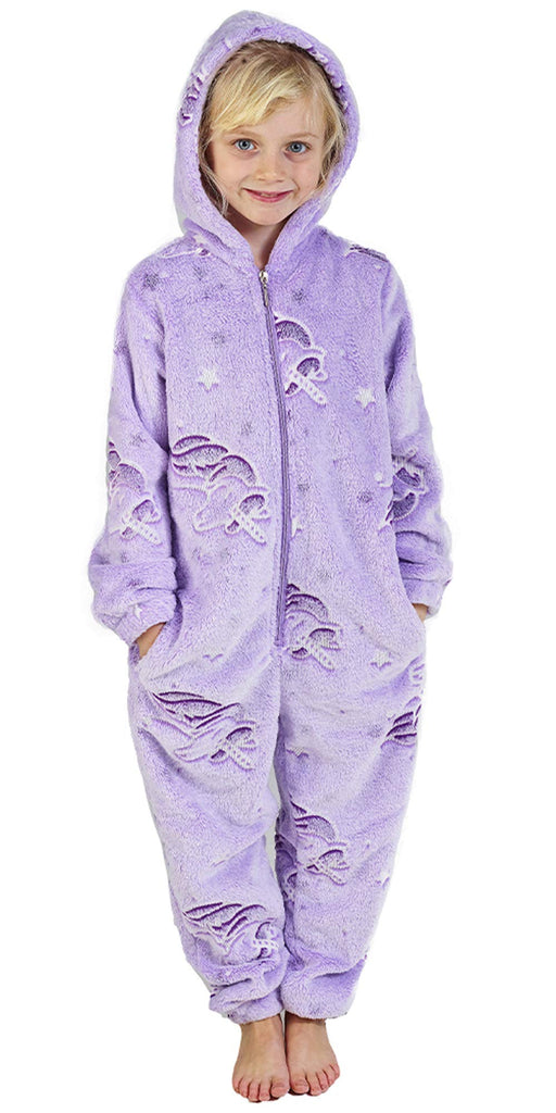 Kids Fleece Glow in the Dark Unicorn Onesie