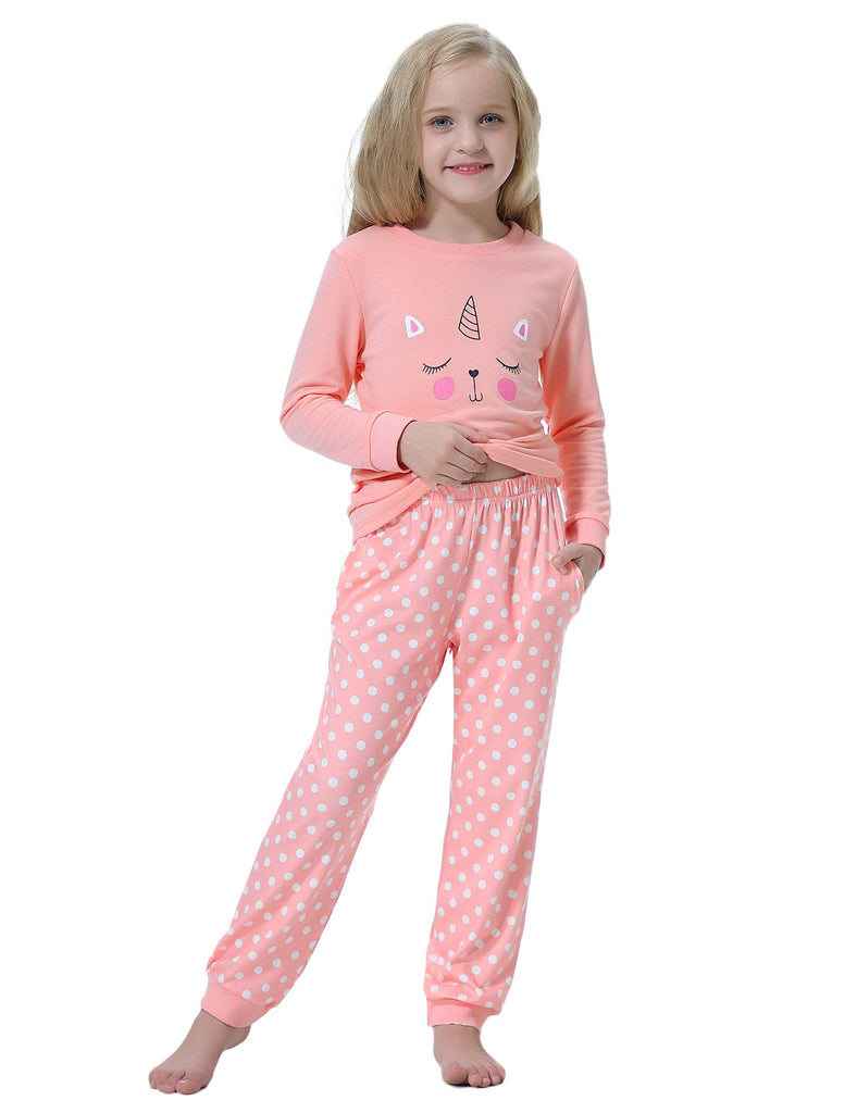 Girls Cute Pyjama Long Sleeve Set