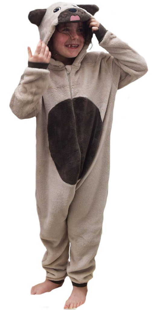 Kids Fleece Monkey or Rabbit Onesie
