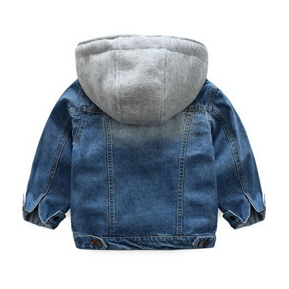 Kids Hooded Denim Jacket