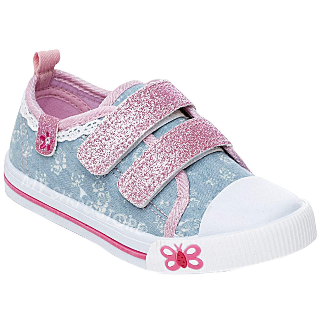 Kids Canvas Toddlers Embellished Trainers Shoes