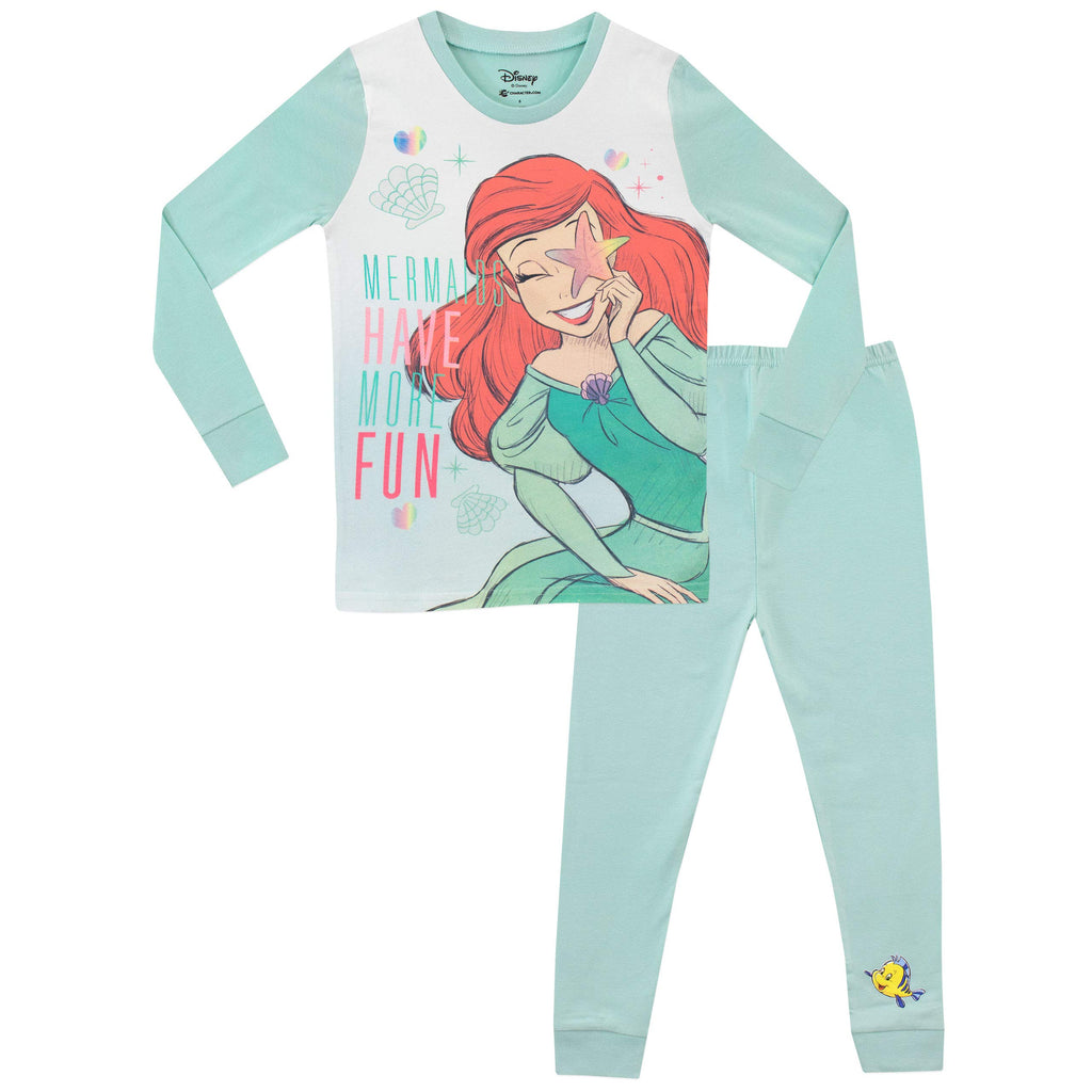 Disney Girls Ariel & Belle Pyjamas