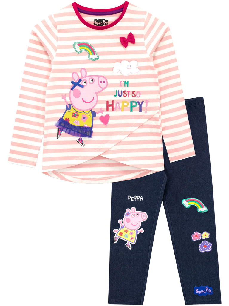 Peppa Pig Girls Top & Leggings Set