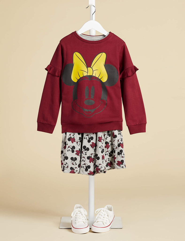 Girl's Minnie Mouse Sweater Sweatshirt