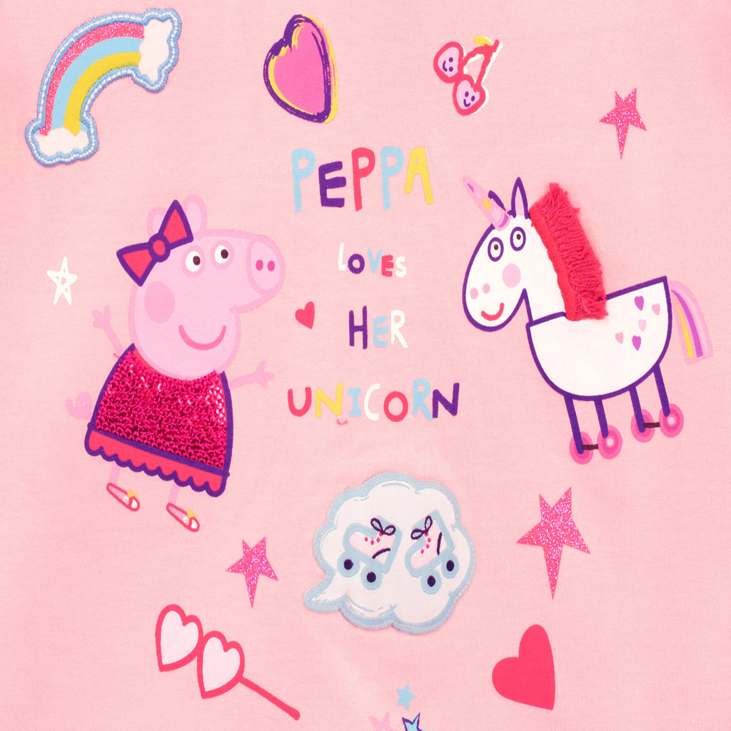 Peppa Pig Girls Unicorn Long Sleeve Top