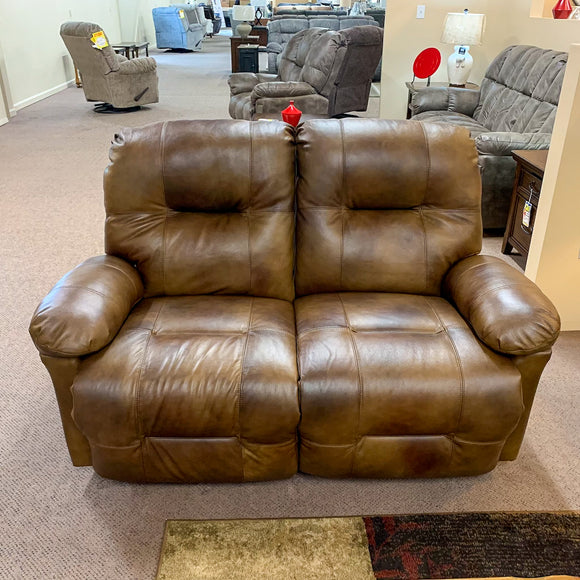 Saddle Leather Zaynah Loveseat