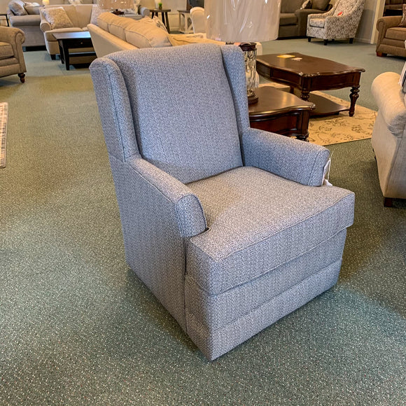 Valerie Denim Swivel Chair