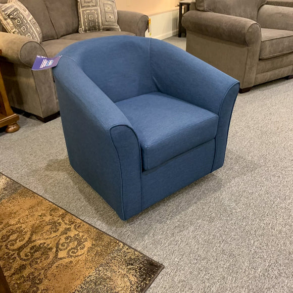 Jitterbug Denim Swivel Chair