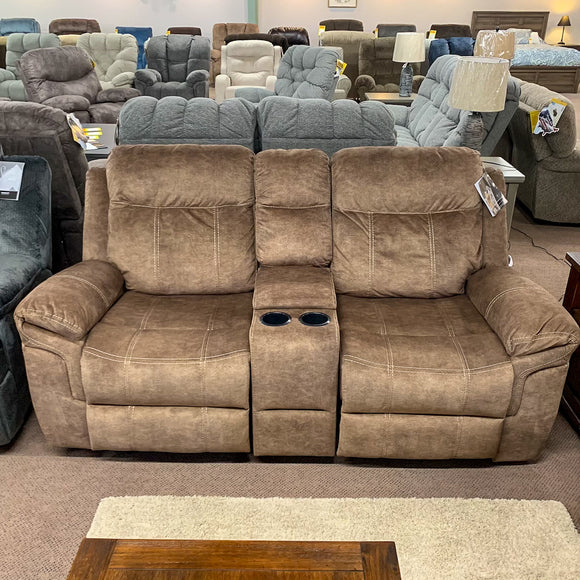 Huddle-Up Reclining Rocker Loveseat With Console