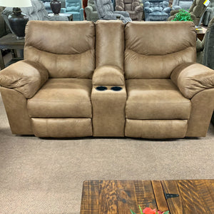 Coshocton Reclining Loveseat with Console