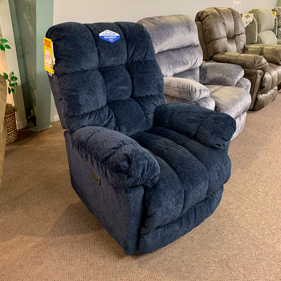 Brosmer Navy Power Recliner With Power Headrest