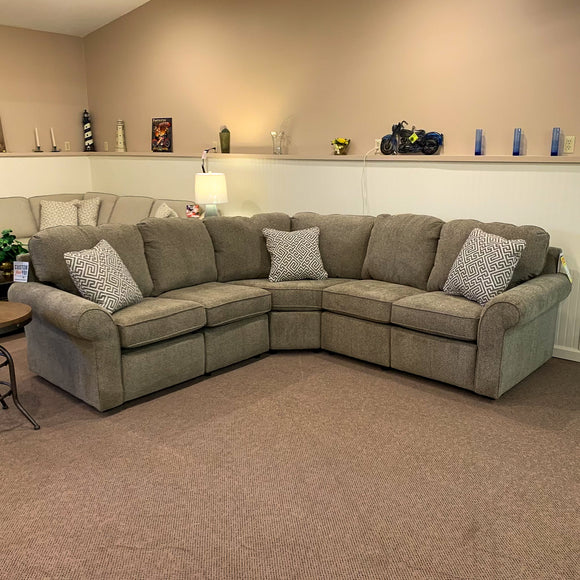 Malibu Urban Wheat Power Reclining Sectional