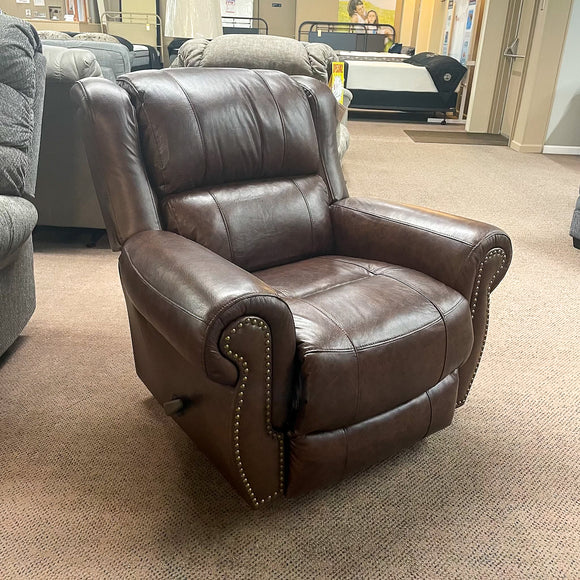 Terrill Tobacco Leather Rocker Recliner