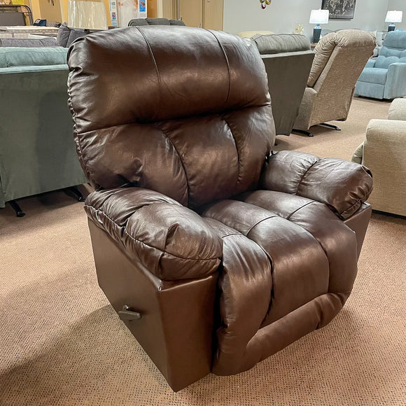 Retreat Leather Birch Rocker Recliner