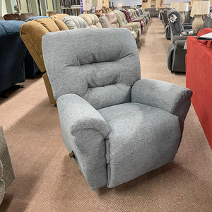 Unity Denim Swivel Rocker Recliner