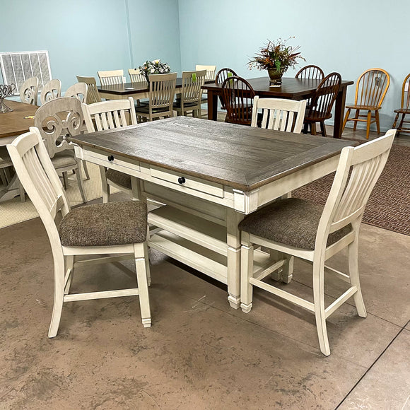 Brookstone Counter Height Dining Room Table & 4 Barstools