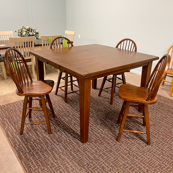 Fort Kent Gathering Table & 4 Barstool