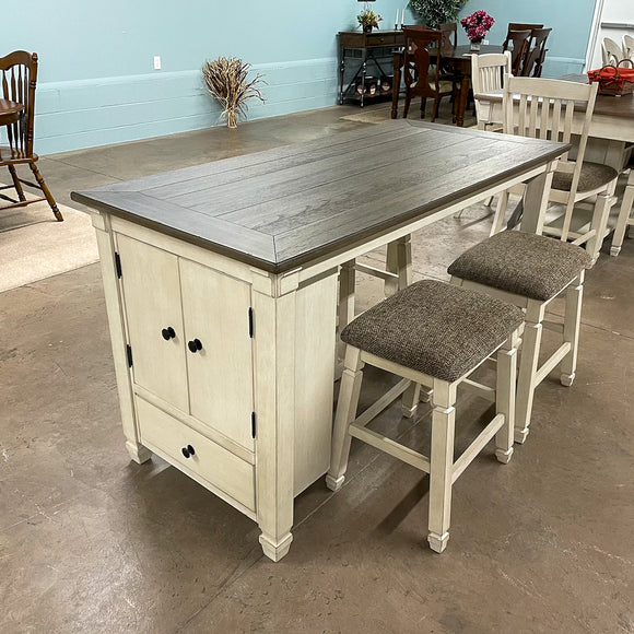 Brookstone Counter Height Dining Table and 4 Stools