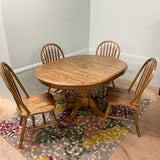 Dark Chenille Table & 4 Chairs